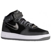 Nike Air Force 1 '07 Mid Suede Schwarz/Cool Grau Damen Streetwear