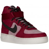 Damen Nike Air Force 1 High Premium Suede Noble Rot/Schwarz/Plum Fog Sneakers