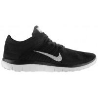 Nike Free 4.0 Flyknit Damen Sportschuhe Schwarz/Dunkel Grau/Weiß