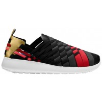 Nike Roshe One Slip N7 Schwarz/Anthrazit/Metallic Gold/University Rot Damen Sportschuhe