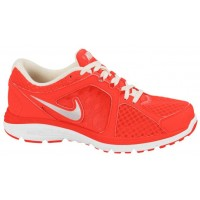 Damen Nike Dual Fusion Run Breathe Hell Zitrusfrucht/Metallic Silber Schuhschaft
