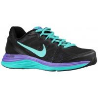 Nike Dual Fusion Run 3 Damen Laufschuhe Schwarz/Hyper Jade/Hyper Traube/Hyper Türkis