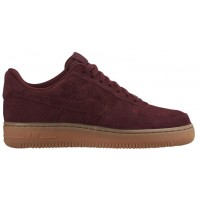 Nike Air Force 1 '07 Low Suede Damen Sneakers Dunkel Granat
