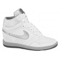 Nike Force Sky High Wedge Weiß/Metallic Silber/Dunkel Grau Damen Casual Wedges