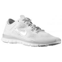 Nike Free 5.0 Tr Fit 4 Damen Fitnessschuh Weiß/Metallic Silber