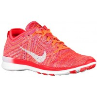 Nike Free Tr 5 Flyknit Damen Trainingsschuhe Hell Crimson/Hell Zitrusfrucht/Gesamt Orange/Weiß