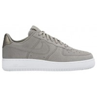 Nike Air Force 1 '07 Low Premium Suede Damen Sneakers Grau/Weiß
