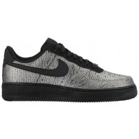 Nike Air Force 1 '07 Mid Premium Metallic Silber/Schwarz Damen Sneakers