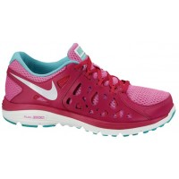 Nike Dual Fusion Run 2 Damen Running Schuhe Rot Violett/Metallic Summit Weiß/Hell Mango
