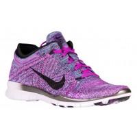 Nike Free Tr 5 Flyknit Damen-Trainingsschuh Farbig Perle/Schwarz/Fuchsie Glühen/Licht Violett