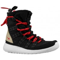 Nike Roshe One Hi Sneakerboot Print Schwarz/Sail/Linen/University Rot Damen Sneakerboot