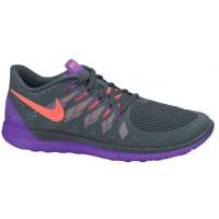 Damen Nike Free 5.0 2014 Dunkel Magnet Grau/Hyper Traube/Hell Mango Schuhschaft