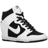 Damen Nike Dunk Sky Hi Essential/Wedge Schwarz/Weiß Sportschuhe