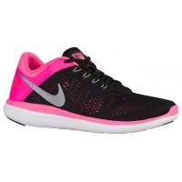 Nike Flex 2016 Rn Schwarz/Rosa Blast/Weiß/Metallic Cool Grau Damenschuhe
