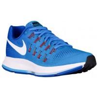 Nike Air Zoom Pegasus 33 Hypernational Damen Running Schuhe Blau Glühen/Rennfahrer Blau/Blaucap/Weiß