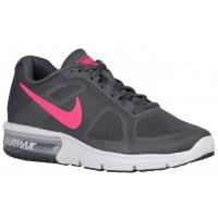 Damen Nike Air Max Sequent Dunkel Grau/Weiß/Schwarz/Hyper Rosa Running Schuhe