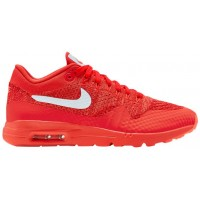 Nike Air Max 1 Ultra Flyknit Hell Crimson/Weiß/University Rot Damen Sneakers