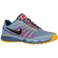 Nike Dual Fusion Trail 2 Blau Grau/Laser Orange/Hyper Violett/Ozean Fog Damen Running Schuhe