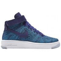Nike Air Force 1 Hi Flyknit Damen Sportschuheschuhechuhe Dunkel Royal Blau
