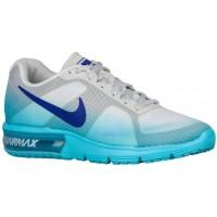 Nike Air Max Sequent Rein Platin/Gamma Blau/Cool Grau/Eintracht Damen Running Schuhe