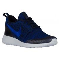 Nike Roshe One Flyknit Damenschuhe Dunkel Obsidian/Rennfahrer Blau/Dunkel Royal Blau