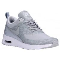 Damen Nike Air Max Thea Print Rein Platin/Weiß/Metallic Silber Running Schuhe