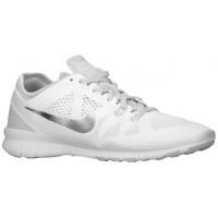 Nike Free 5.0 Tr Fit 5 Weiß/Rein Platin/Metallic Silber Damenschuhe