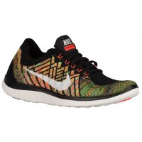 Damen Nike Free 4.0 Flyknit Schwarz/Hyper Orange/University Blau/Sail Trainingsschuhe