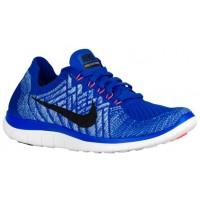 Damen Nike Free 4.0 Flyknit Rennfahrer Blau/University Blau/Hyper Orange/Schwarz Sportschuhe