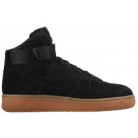 Damen Nike Air Force 1 High Suede Schwarz Athletic