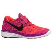 Nike Flyknit Lunar 3 Farbig Perle/Hyper Orange/Court Perle/Schwarz Damen Running Schuhe