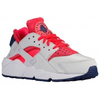 Nike Air Huarache Damensneaker Rein Platin/Hell Crimson/Loyal Blau