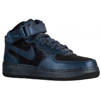 Nike Air Force 1 '07 Mid Prem Metallic Waffenkammer Marine Damen Sneaker