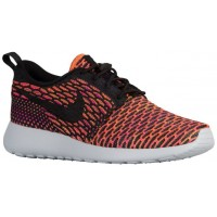 Nike Roshe One Flyknit Damen Sneakers Anthrazit/Schwarz/Farbig Perle/Hyper Orange