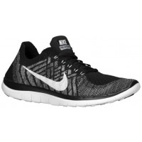 Nike Free 4.0 Flyknit Schwarz/Wolf Grau/Dunkel Grau/Weiß Damenschuhe