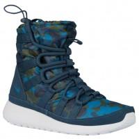 Nike Roshe One Hi Print Winterized Sneakerboot Geschwader Blau/Brigade Blau/Kohlenstoff Grün/Platin Damen Turnschuhe