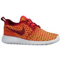 Nike Roshe One Flyknit Damen Laufschuhe Team Rot/Hell Crimson/Volt