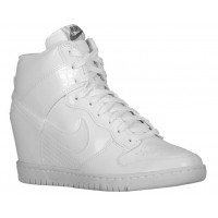 Nike Dunk Sky Hi Wedge Weiß/Cool Grau Damen Basketball