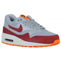 Nike Air Max 1 Ultra Essentials Damen Sneakers Wolf Grau/Gesamt Orange/Summit Weiß/Team Rot