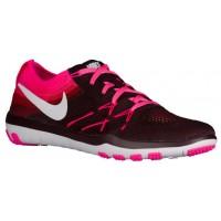 Nike Free Tr Focus Flyknit Damen Trainingsschuhe Dunkel Burgundy/Weiß/Rosa Blast