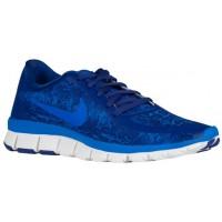 Nike Free 5.0 V4 Ns Print Dunkel Royal Blau/Weiß/Soar Damen Runningschuh