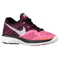 Nike Flyknit Lunar 3 Schwarz/Weiß/Rosa Pow/Gesamt Orange Damen Sneakers