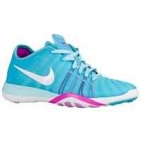 Nike Free Tr 6 Gamma Blau/Weiß/Hyper Violett/Fuchsie Glühen Damen Fitnessschuhe