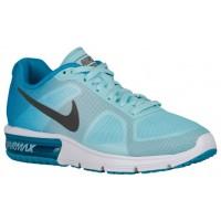 Nike Air Max Sequent Blau Lagoon/Copa/Weiß/Metallic Dunkel Grau Damen Running Schuhe