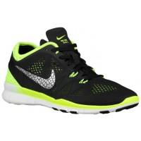 Damen Nike Free 5.0 Tr Fit 5 Breathe Schwarz/Volt/Metallic Silber Sportschuhe