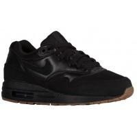Nike Air Max 1 Essential Damen Running Schuhe Schwarz/Gum Mittel Braun