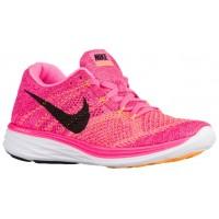 Nike Flyknit Lunar 3 Rosa Blast/Feuerberry/Laser Orange/Schwarz Damen Schuhschaft