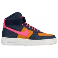 Nike Air Force 1 High Premium Suede Obsidian/Dynamisch Rosa Damen Trainers