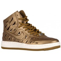 Damen Nike Air Force 1 Ultra Force Mid Metallic Golden Hellbraun Sportschuhe
