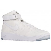 Nike Air Force 1 Ultra Flyknit Mid Herren Sneakers Weiß
